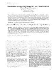 Generalidade da Aprendizagem em Situações de Uso de ...