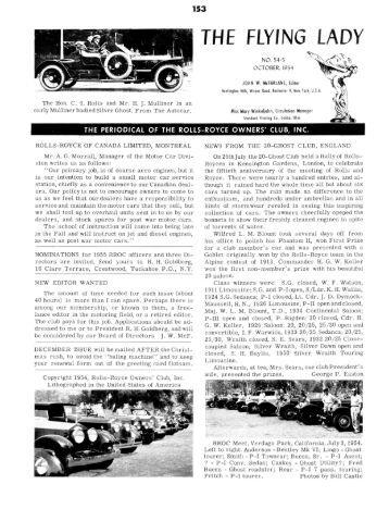 1954-5 - Rolls-Royce Owners' Club