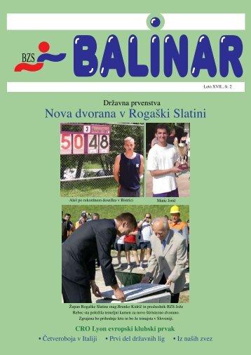 BALINAR - julij 2008 - Balinarska zveza Slovenije