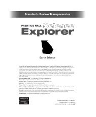 Standards Review Transparencies - Pearson