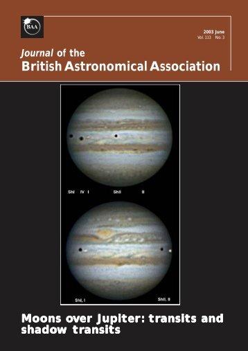 Download in PDF - British Astronomical Association