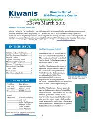 KNews March 2010 - KiwanisOne Member Resources