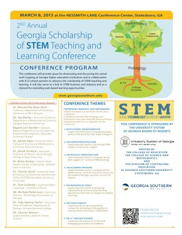 Georgia Scholarship of STEMTeaching and Learning Conference