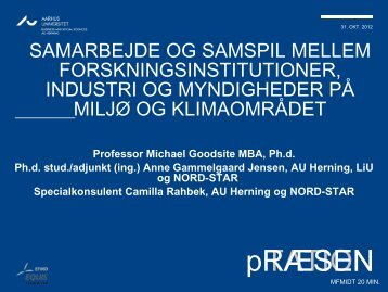 Prof. Michael Evan Goodsite, Centerdirektør AU Herning