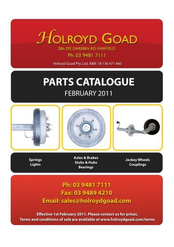 Holroyd Goad Parts List