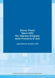Elenco Prezzi Opere Edili Per Imprese Artigiane della Provincia di Asti