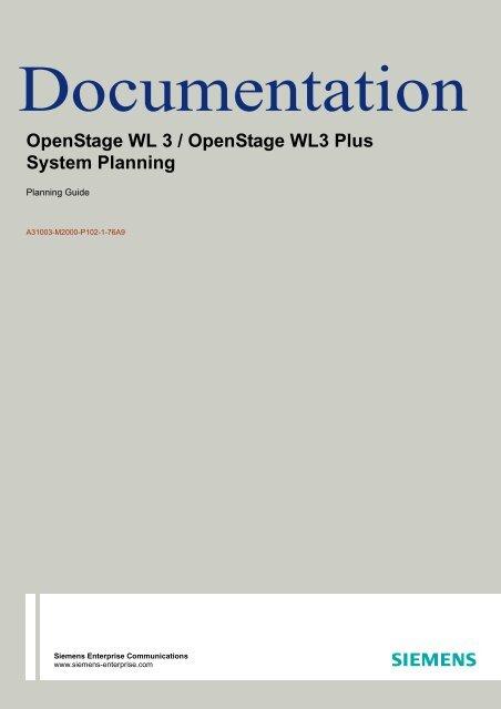 OpenStage WL3, System Planning, Issue 1 - Wiki of Siemens