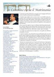 -4- in Cammino verso il Matrimonio - Chiesa Cattolica Italiana