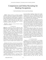 Competencies and Online Recruiting for Banking ... - Wseas.us