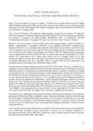 Testo di Salvatore Palese - Diocesi Ugento