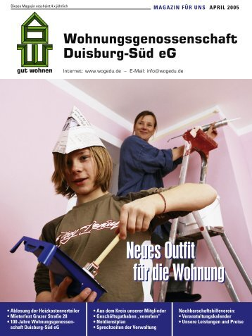 DU-SÜD_Magazin April 05.indd - WOGE Duisburg Süd eG