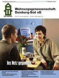 100 Jahre Wohnungsgenossen - WOGE Duisburg Süd eG
