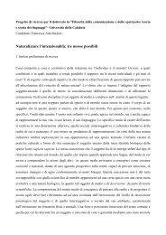tre mosse possibili - Corso di Laurea in Filosofie e Scienze della ...