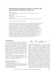 Determining the instantaneous modulus of viscoelastic solids using ...