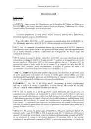 Delibera di approvazione regolamento TARES in formato ...