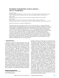 Broadband nanoindentation of glassy polymers - Forest Products ...