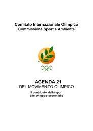 Agenda 21 del Movimento Olimpico - CONI Comitato Provinciale di ...