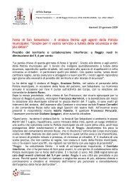 Festa di San Sebastiano - Comune di Reggio Emilia