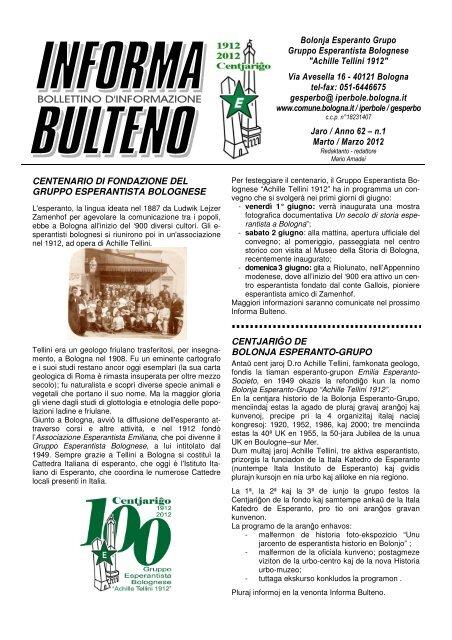 marzo - Federazione Esperantista Italiana