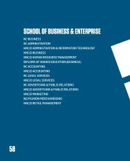 School of BUSINESS & ENTERPRISE - City of Glasgow College