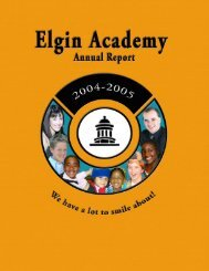 Annual Report 0405 - Elgin Academy