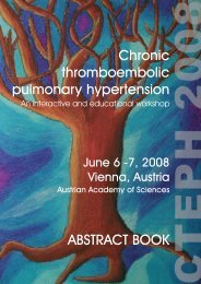 abstract booklet - International CTEPH Association | ICA