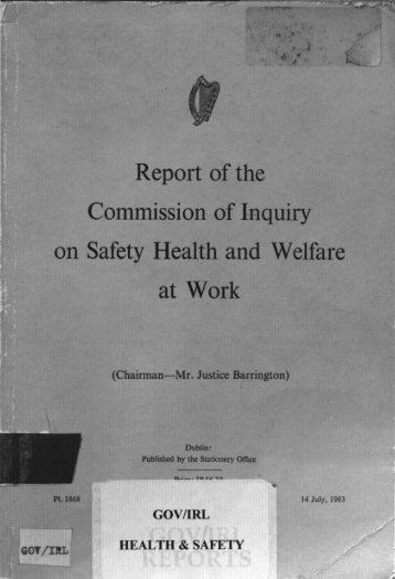 Report of the Commission of Inquiry on Safety Health and Welfare at ...