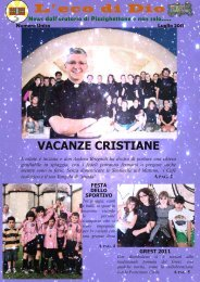 VACANZE CRISTIANE - Parrocchie di Pizzighettone