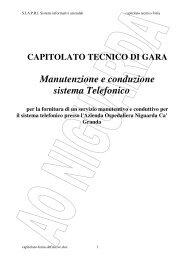 Manutenzione e conduzione sistema Telefonico - Ospedale ...