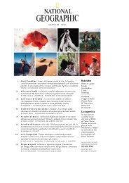 Sommario della rivista National Geographic Italia fino al 2001