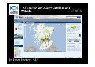 The Scottish Air Quality Database and Website Dr Stuart Sneddon ...