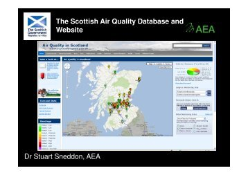 The Scottish Air Quality Database and Website Dr Stuart Sneddon ...