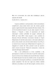 Per un catalogo online dei numerali nelle lingue celtiche