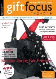 Bumper Spring Fair Preview - Gift Focus magazine