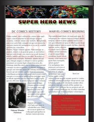 SUPER HERO NEWS