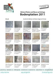Flyer Bodenplatten als pdf runterladen - Garden Life