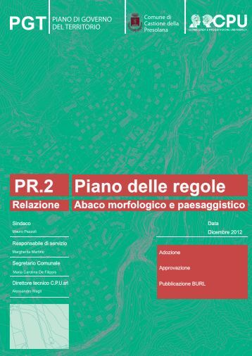 Abaco morfologico paesaggio - Comune di CASTIONE DELLA ...