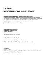Preisliste Natursteinhande Marmi e Graniti.pdf - Natursteinhandel ...