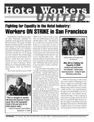 Workers ON STRIKE in San Francisco - Hotel Workers Rising