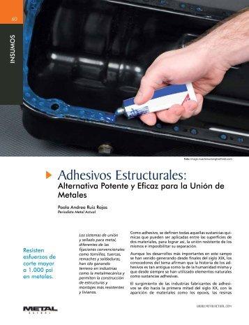 Adhesivos Estructurales: - Revista Metal Actual