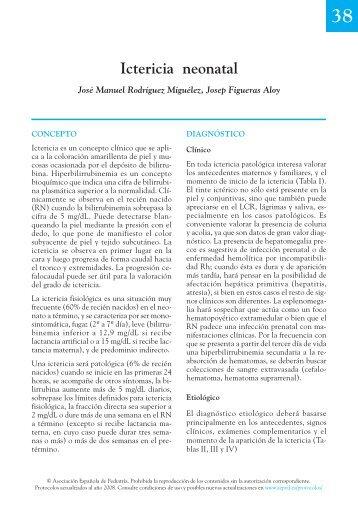 Ictericia neonatal - Asociación Española de Pediatría