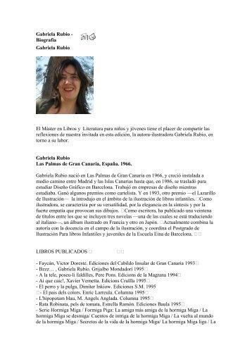 Gabriela Rubio - Biografía - Gretel