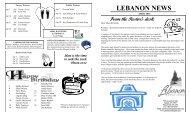 Apr2013Newsletter - Lebanon Baptist Church
