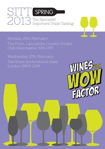 To Download The Brochure - The Specialist Importers Trade Tastings