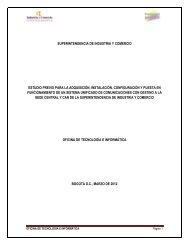 estudio de conveniencia y oportunidad - Superintendencia de ...