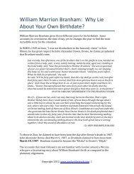 Supernatural: The Life of William Branham - Endtimemessage info
