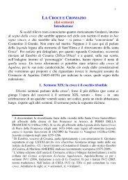 LA CROCE E CROMAZIO (dai sermoni ... - La Santa Sede