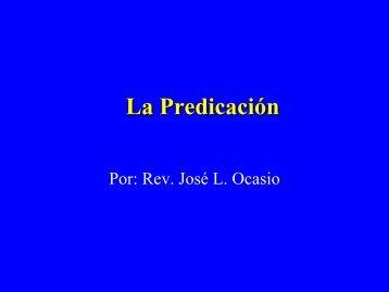 La predicación - Iglesia de Dios Pentecostal M.I.