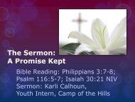 The Sermon: A Promise Kept