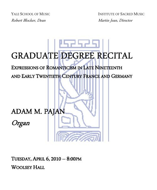 Master of Music Graduate Degree Recital - Adam Pajan